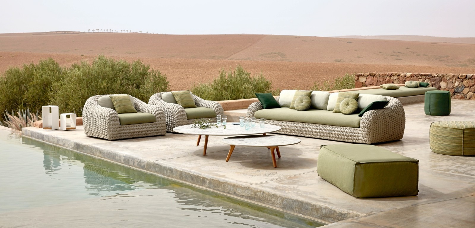 Outdoor furniture and garden lounge, Cote d\'Azur, Cannes ...